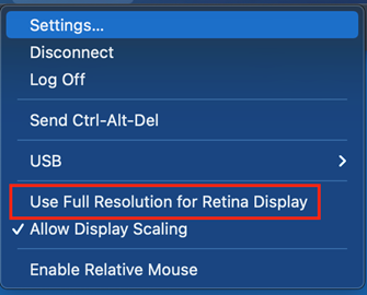 Use Full Resolution for Retina Display