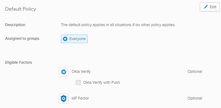 Default Policy
