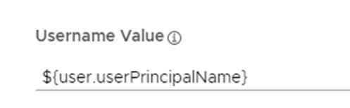 Username Value