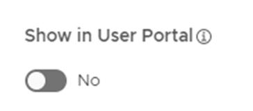 Show in User Portal