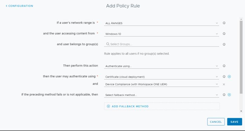 Add Policy Rule