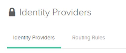 Identity Providers